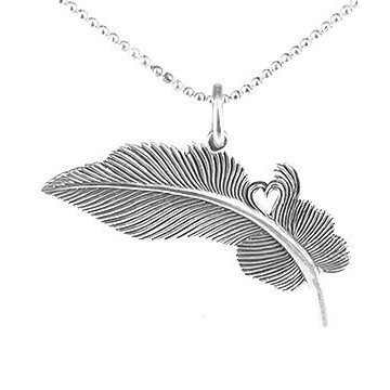 Feather of Hearts Pendant