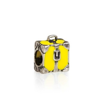 Suitcase yellow enamel