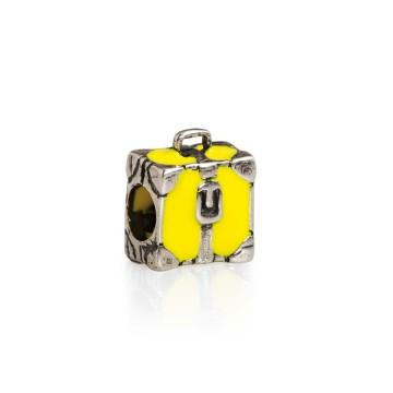 Suitcase yellow enamel