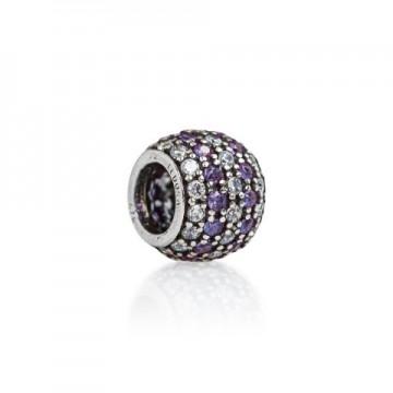Pavé white & violet