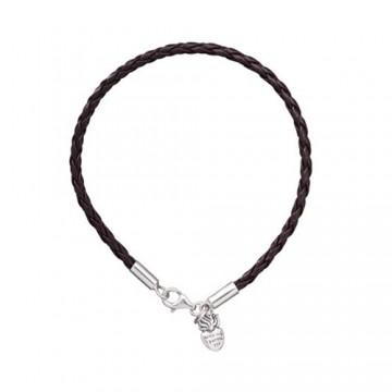 Braided Leather Bracelet-...