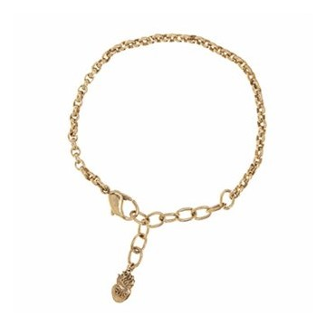 Medium Rolo Bracelet - Brass