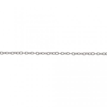 Twisted Link silver 76 cm