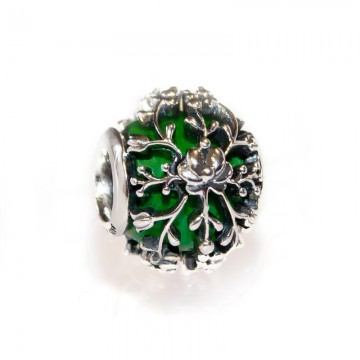Serenity - Green Flower Bead