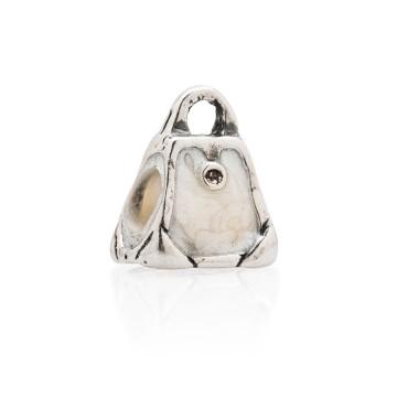 Shopping bag white enamel...