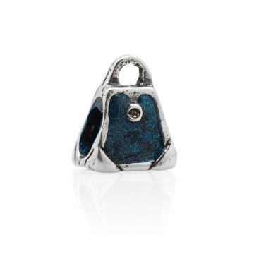 Shopping bag - blue enamel...