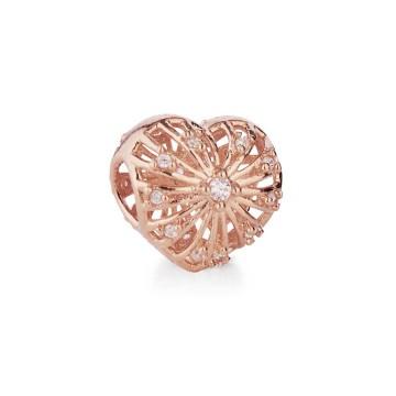 Cuore romantico - rosa