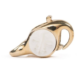 Moon Face Lock Brass