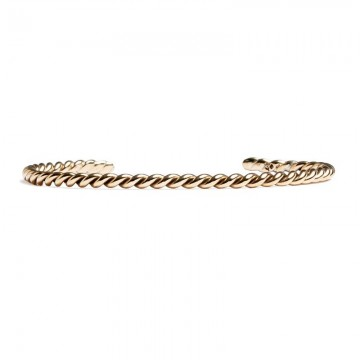 Twirl Bangle Brass
