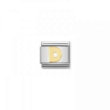 Lettera D Gold