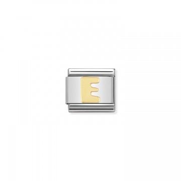 Lettera E Gold