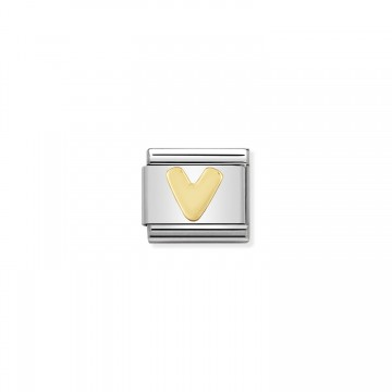 Lettera V Gold