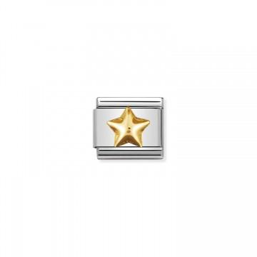 Erhöhter Stern Gold