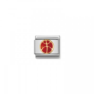 Basketball - Gold and Enamel
