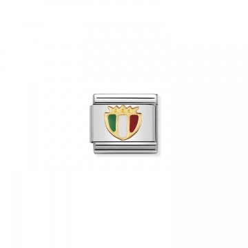 Italy Shield - Gold and Enamel