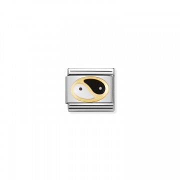 Yin Yang - Gold und Emaille