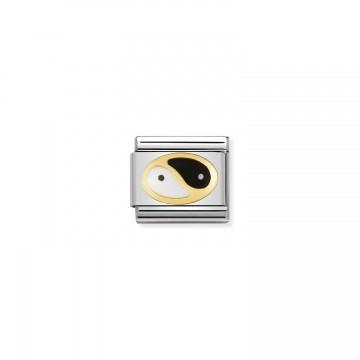 Yin Yang - Gold and Enamel
