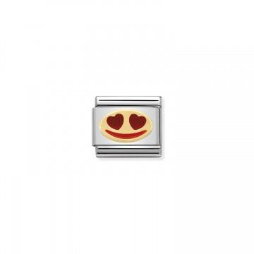 Liebeslächeln Gold - Email
