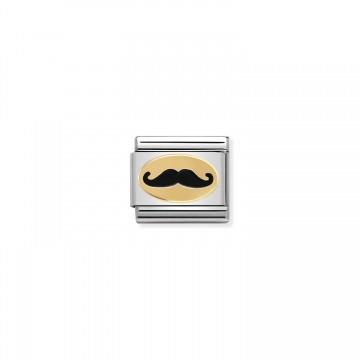 Schnurrbart Gold - Email