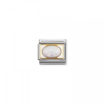 Opal auf Weißgold - Gold