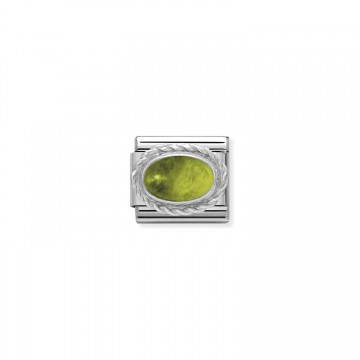August - Silver and Peridot