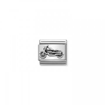 Vintage Motorrad in Silber...