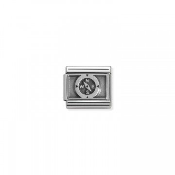 Compass - Oxidized Silver