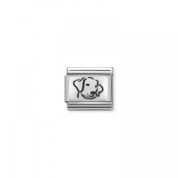 Hund - Silber und Emaille