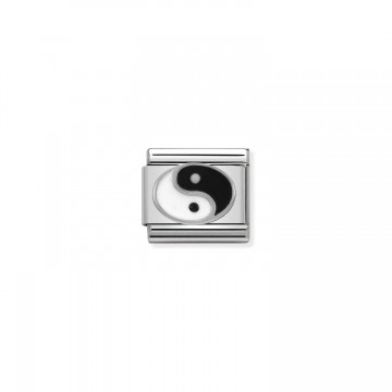 Yin Yang- plata y esmalte