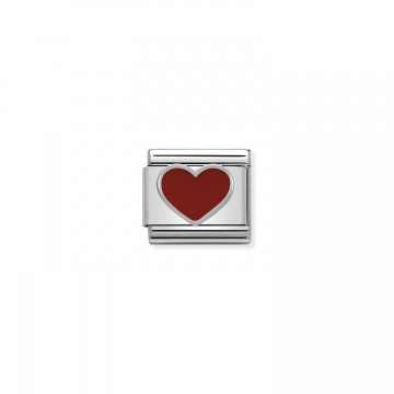 Corazón Rojo - Plata y Esmalte