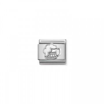 Bierkrug - Silber und Emaille