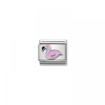 Flamingo - Silver and Enamel