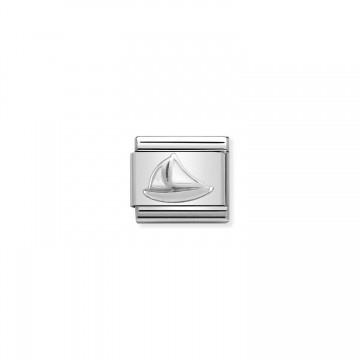 Sailboat - Silver and Enamel