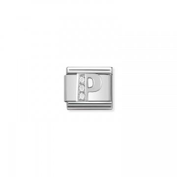 Lettera P - Argento e Zirconi