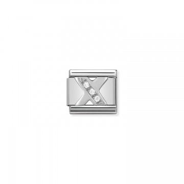 Lettera X - Argento e Zirconi