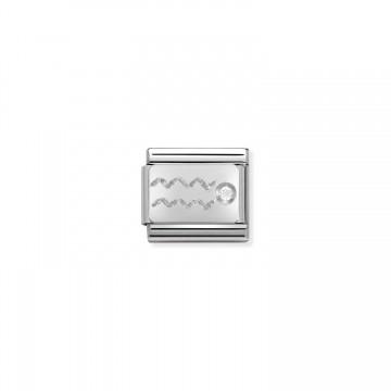 Aquarius - Silver and Zircon