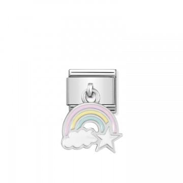 Rainbow - Silver and Enamel