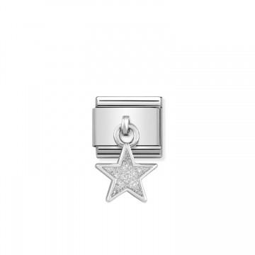 Stern - Silber und weißer...