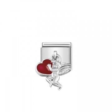 Amor - Silber und Emaille...