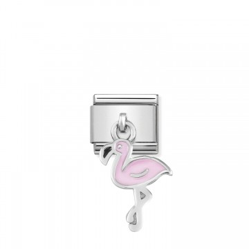 Flamingo - Silver and Pink...