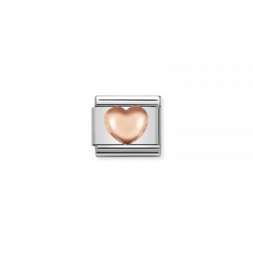 Corazón Redondeado - Oro Rosa