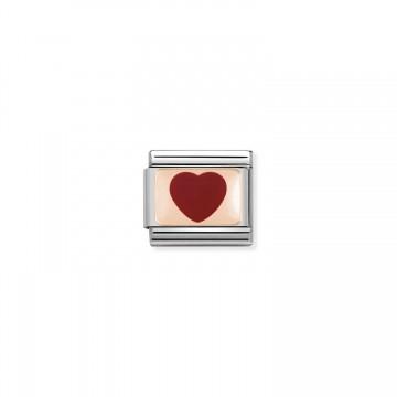 Corazón Rojo - Oro Rosa y...