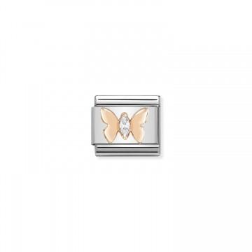Schmetterling - Roségold...