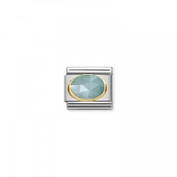 Jade Facetado Azul Claro - Oro
