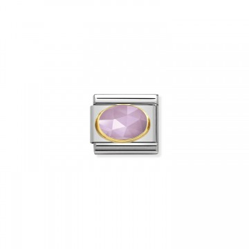 Lilac Faceted Jade - Gold