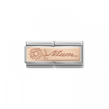MUM with Flower - Rose Gold