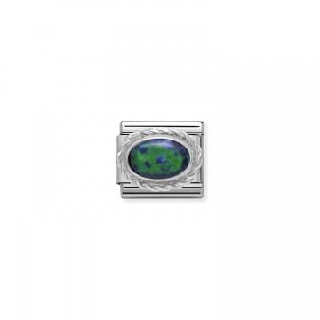 Grüner Opal - Silber