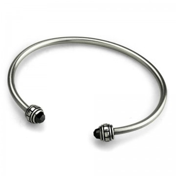 CZ Bangle Black ( M )