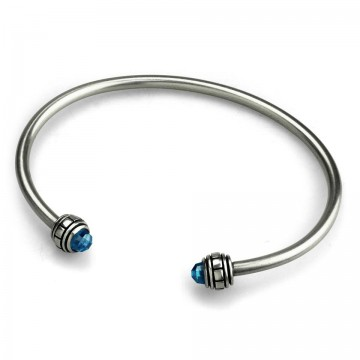 CZ Bangle Blue ( S )