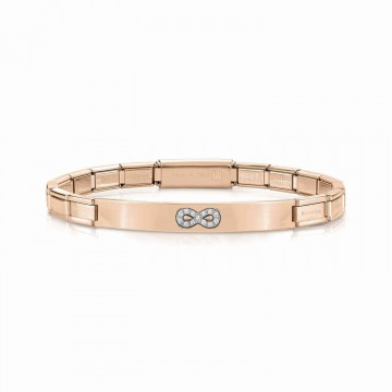 Infinity Bracelet with Zircons